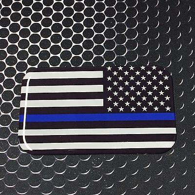 """THIN GREEN LINE Domed Decal Proud USA Rangers Flag Emblem Car Sticker 3D 3.1x 2/"""""""