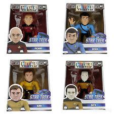 """In Stock 4"""" Star Trek Jada Die Cast Metals PICARD SPOCK KIRK DATA"""