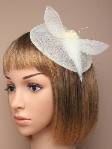 Looped Feather Fascinator Ladies Day Races Wedding Royal Ascot 30