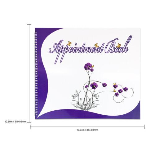 6 Columns Salon Beauty /& Nails Schedule Planner Organizer Appointment Book