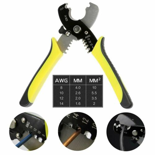 8-14AWG Versatile Electric Cable Cutter Wire Stripper Stripping Plier Hand Tool