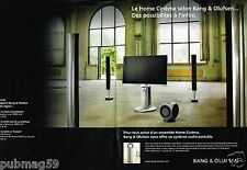 Publicité advertising 2007 (2 pages) TV Hi-FI Bang & Olufsen