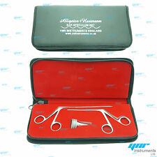 5pc Set HARTMANN Ear Speculum 2 x Micro Alligator ENT Surgical Nasal Instruments