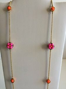 NWT-Kate-Spade-O0RU1001-Plated-Chain-Linked-Scatter-Necklace