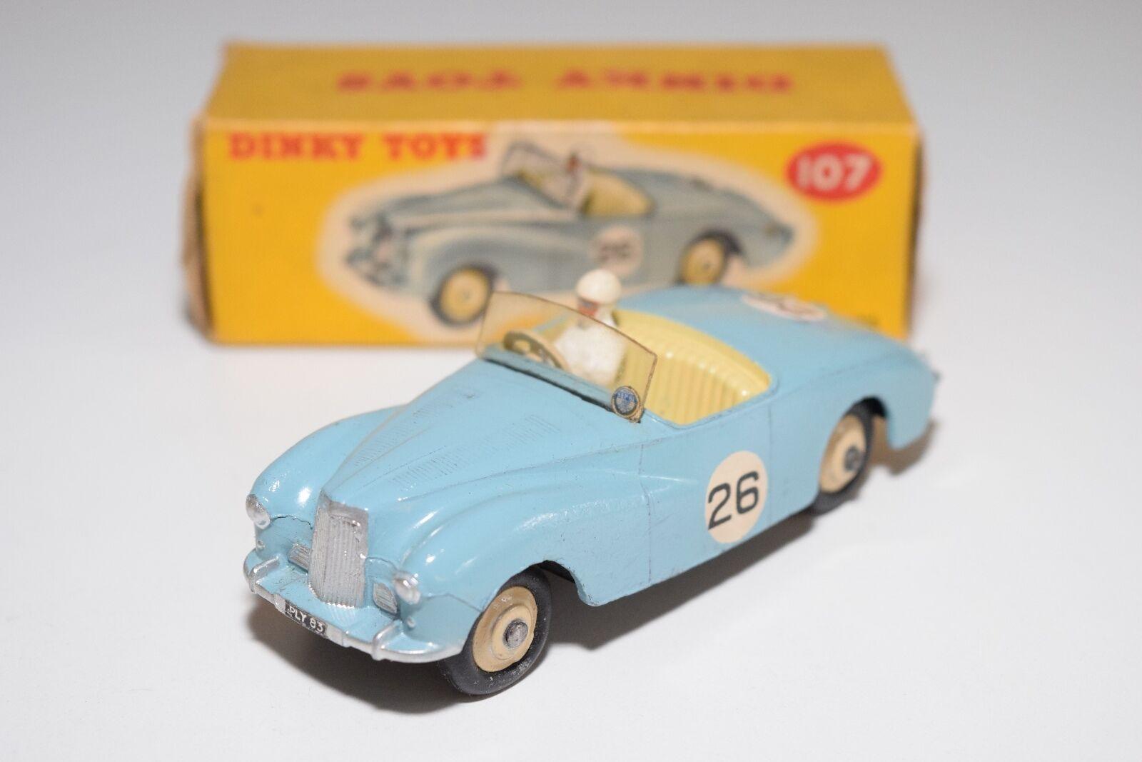 \\ DINKY TOYS 107 SUNBEAM ALPINE SPORTS CAR LIGHT bleu NEAR MINT BOXED