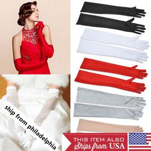 22-034-Women-Satin-Arm-Hand-Long-Sleeve-Gloves-Evening-Party-Opera-Bridal-Wedding