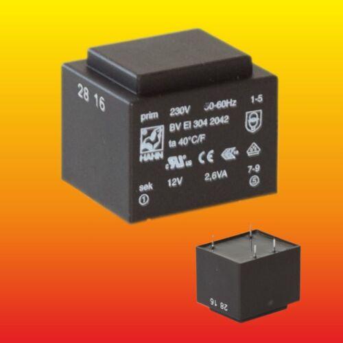 12 V 2.6 VA 230 V 50//60 Hz PRINT TRAFO MAINS POWER TRANSFORMER BVEI3042042