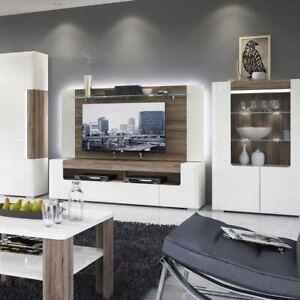 Toronto 190 Cm Wide Tv Cabinet Stand Rear Wall Panel Shelf White