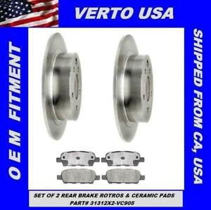 Rear-Brake-Rotors-and-Ceramic-Pads-For-NISSAN-ALTIMA-JUKE-MAXIMA-SENTRA