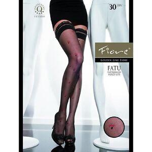 Fiore-Bas-de-nylon-autofixant-sexy-a-motifs-jarretiere-reference-Fatu