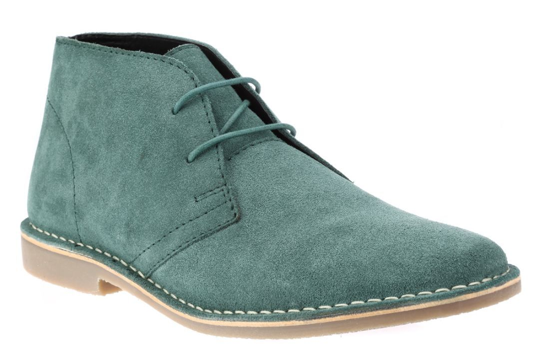 Mens Red Tape Gobi Teal Suede Lace Up Ankle Desert Boots Sizes UK 7 - 12