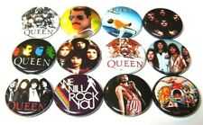 "12 QUEEN Buttons Pinback 1"" Pins Badges Freddy Mercury 70s 80s Rock Band Freddie"