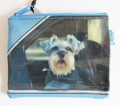 Chihuahua Dog Multi-Purpose Flat Zip Purse//Bag PVC Coated Plastic Lined Interior