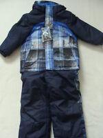 Boys Zero Xposur Snowsuit S 4 Winter Jacket Coat Bibs Pants Snow Suit Blue