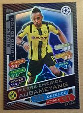 Topps Match Attax Champions League 16/17 SILBER Limited LEPKS Aubameyang