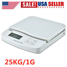 25kg1g Digital Postal Shipping Scale Weight Postage Scale White 2x Battery