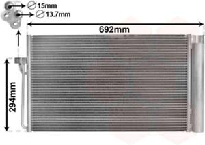 climatisation pour climatisation VAN WEZEL 06005273 Condenseur