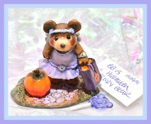 Wee-Forest-Folk-BB-15-Halloween-Fairy-Bear-Violet-Purple-Pumpkin-Glitter-WFF