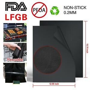 2//4//6//10pcs Large Non Stick Oven Liner Reusable Oil-proof Pastry BBQ Baking Mat