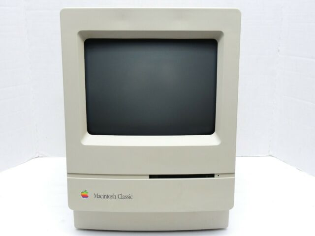 Apple Macintosh Classic Computer M4150 4MB Ram - RECAPPED - NEW BATTERY - AS IS