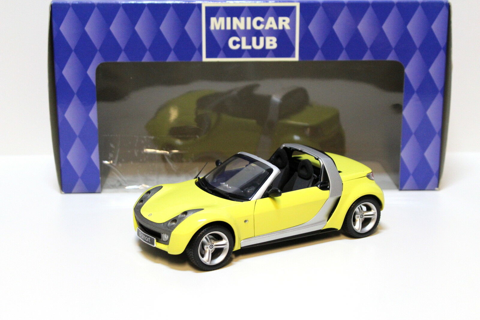 1 18 Kyosho Smart Roadster amarillo New en Premium-modelCoches