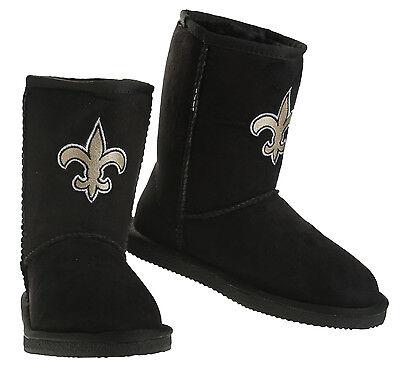 Cuce Shoes NFL Women's New Orleans Saints The Ultimate Fan Boots Boot - Black