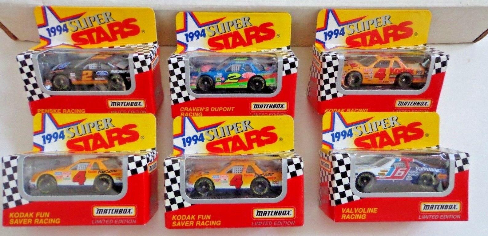 Lot Of  30 New 1994 Matchbox NASCAR Super Stars 1 64 Scale Diecast Cars