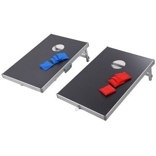 New Foldable Bean Bag Toss Cornhole  Game Set Boards Tailgate Regulation Baggo  save up to 80%