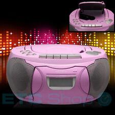 Stereo CD Player Mädchen Musik Anlage Pink Radio AUX Boombox Kinder Zimmer Party