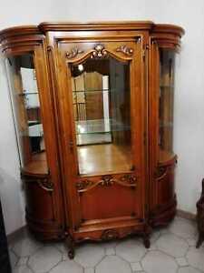 Argentier style Louis XV - bois massif - verre biseauté