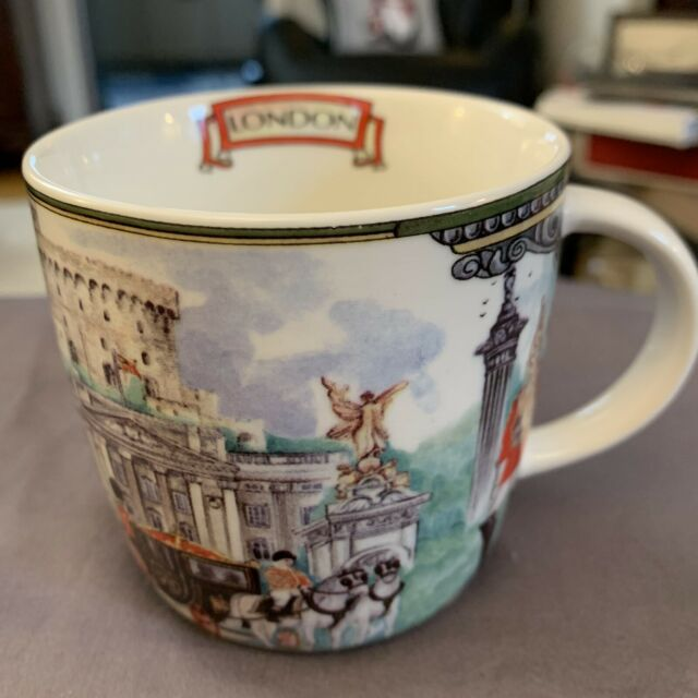Porcelain Mug Black and White Sheep Motif Dishwasher safe Irish Gift