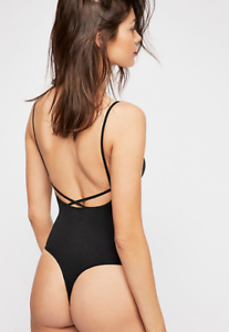 NEW-Free-People-Intimately-Seamless-All-Yours-Bodysuit-Black-Sz-XS-S-M-L-51-54