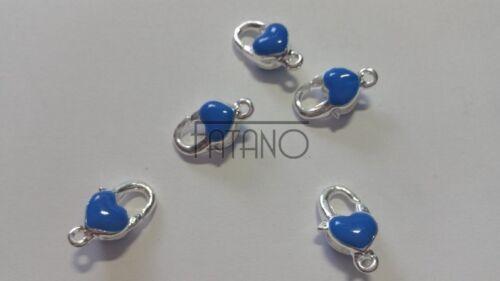5 XL mosquetón mosquetones plata azul 20 x 12 mm cierre mt61