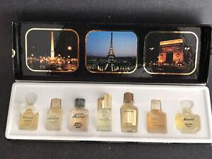 NWB-Les-Meilleurs-Parfums-de-Paris-7-Mini-Perfumes-Bottles-Gres-Vison-Ma-Griffe