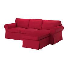 Nuevo conjunto de funda de Ikea ektorp para dos [2] asiento sofá con chaise en nordvalla Rojo