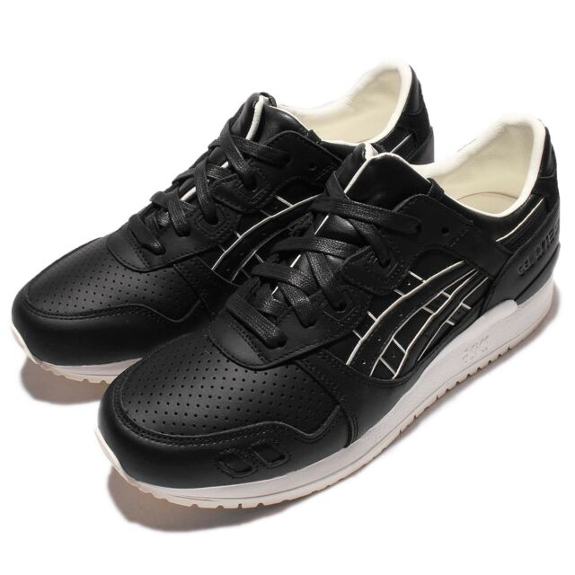ASICS Tiger Gel Lyte III 3 Black White Leather Mens Running Shoes H6S3L 9090