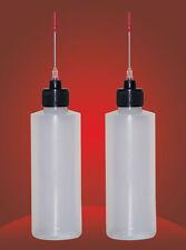 Two 4 Oz Bottles With Needle Tip Dispenser For Liquid Soldering Flux