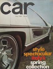 CAR 05/1967 featuring Fiat Dino, Lamborghini, Austin Healey, Triumph Spitfire