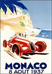 Monaco-Grand-Prix-1937-Car-Racing-Vintage-Poster-Print-Retro-Style-Auto-Art