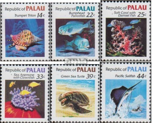 PalauIslands 74A79A complete.issue. unmounted mint never hinged 1985 clear