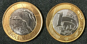 BRAZIL SET 16 COINS BI-METALLIC 1 REAL OLYMPIC RIO SPORT  2014-2016 UNC