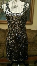 Women's Silver Metallic Sequenced  Dress Large Very Sexy Great Deal!! NWT