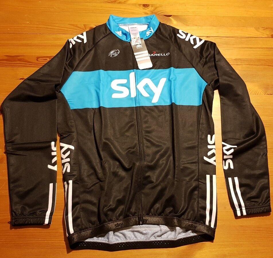 CIELO TEAM manica lunga jersey Adidas Nuova Con Etichetta Borsa Nuovo di zecca in Taglia XXLarge Taglia 6