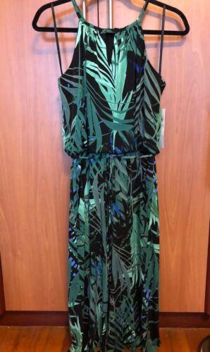London New Halter Tropical Times a donne 8 Leaves per Medium Tuta Green rombi Keyhole qPfwxWB