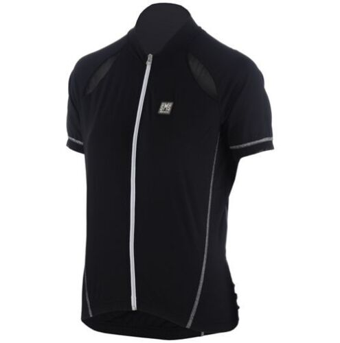Women/'s Charm Short Sleeve Cycling Jersey in Black Made in Italy by Santini