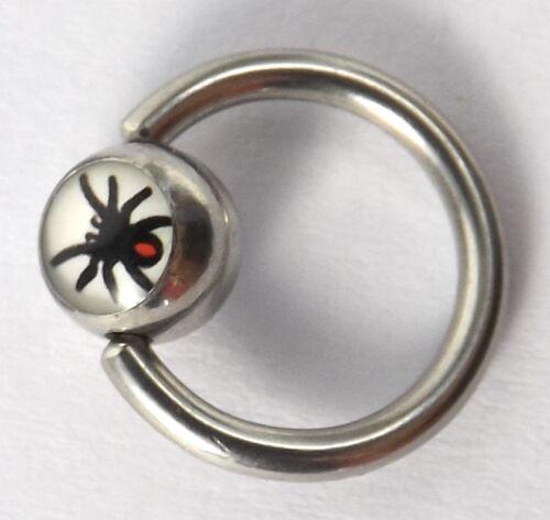 cruz-freesex-inkgrafix ® Aro 1,6mm acero-llama-araña-cubo