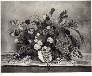 H-Matisse-litho-039-Bouquet-au-feuillage-de-poivrier-039-1935-Frazier-Soye-Paris-COA