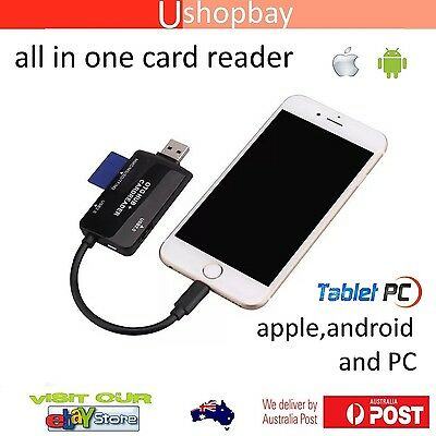 For Android Phone Tablet PC Smartphone With OTG Micro SD Card Camera Reader
