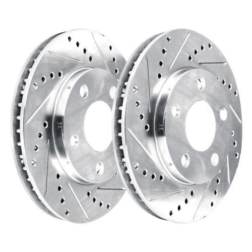 1268 2 Platinum Hart *DRILLED /& SLOTTED* Front Disc Brake Rotors FRONT KIT