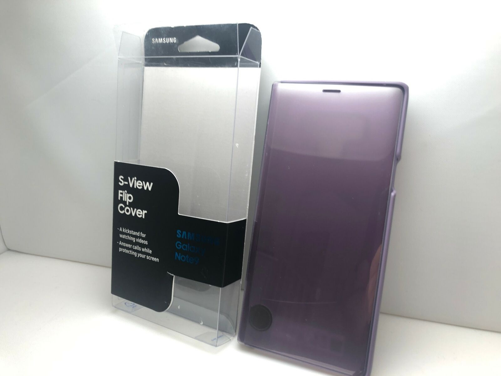 Lavender Purple Samsung Galaxy Note9 Case EF-ZN960CVEGUS S-View Flip Cover with Kickstand